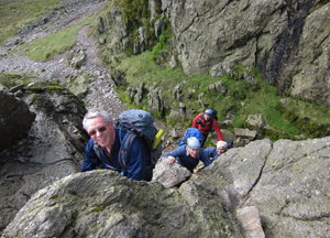 Crinkle Crags bad step (photo Tony Deall)