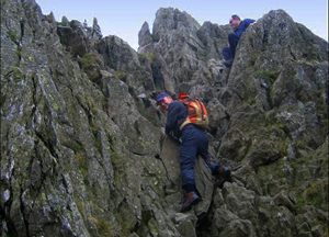 Striding Edge chimney (photo Tony Deall)