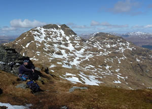Looking across to Cruach Ardrain from Beinn Tulaichean on a fine April day